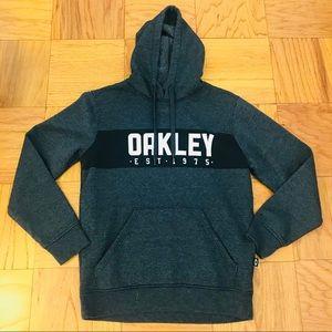 Men's OAKLEY Gray Graphic Logo Hoodie Sweater S